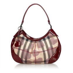 Burberry Heart Nova Check Shoulder Bag