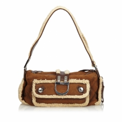 Christian Dior Mouton Flight Shoulder Bag