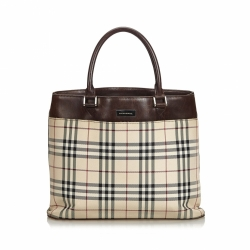 Burberry Nova Check Canvas Handbag