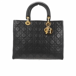 Christian Dior Lady Dior Large Black Bag