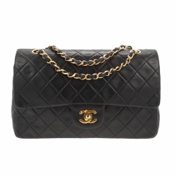 Chanel Timeless Double Flap Bag Medium Black