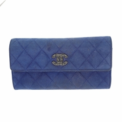 Chanel wallet in blue leather