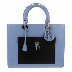Christian Dior Lady Dior Large Blue Bag