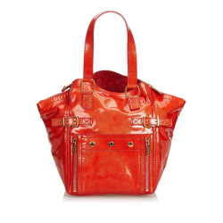 Yves Saint Laurent Patent Leather Downtown Tote