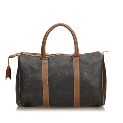 Christian Dior Honeycomb Coated Canvas Boston Bag