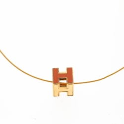 Hermès Hermes Collier Cage H Orange