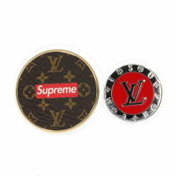 Louis Vuitton x Supreme Brooches