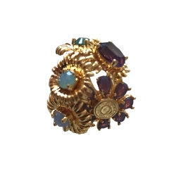 Coach Tony Duquette Limited Edition Bouquet Flower Ring