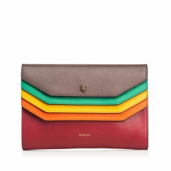 Gucci Leather Totem Clutch