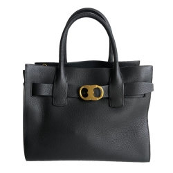 Tory Burch Black Gemini tote