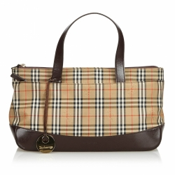 Burberry House Check Jacquard Handbag
