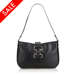 Celine B Celine Black Leather Shoulder Bag ITALY