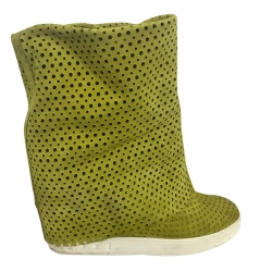 Casadei Aniseed green suede boots