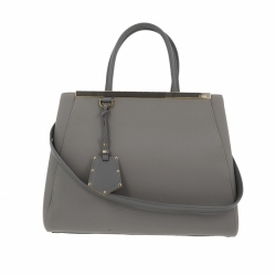 Fendi 2 Jour bag in grey fabric