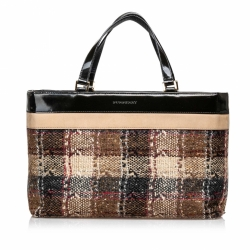 Burberry House Check Wool Tote Bag