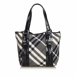 Burberry Beat Check Nylon Victoria Tote