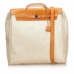 Hermès Canvas Herbag GM Satchel