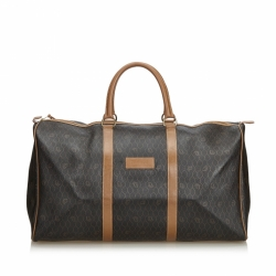 Christian Dior Honeycomb Coated Canvas Duffle Bag