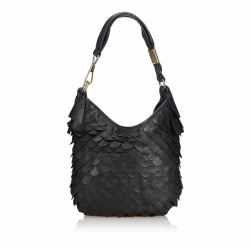 Yves Saint Laurent Scaled Leather Hobo Bag