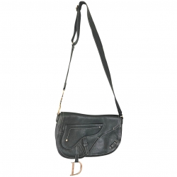 Christian Dior Dior Leather Baudrier Saddle Bag