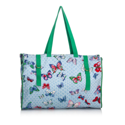 Hermès Butterfly Printed Canvas Tote Bag
