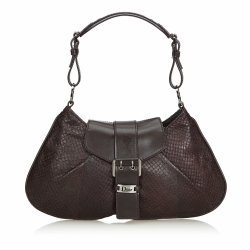Christian Dior Snakeskin Leather Shoulder Bag