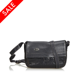 Gucci ON SALE!!! Ostrich Leather Crossbody Bag