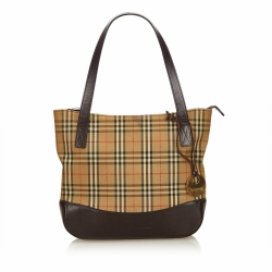 Burberry Plaid Canvas Handbag