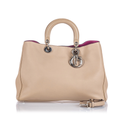 Christian Dior Medium Leather Diorissimo Satchel