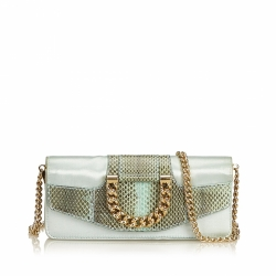Dolce & Gabbana Satin Python Chain Crossbody Bag