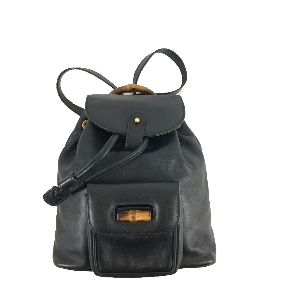 Gucci - Bamboo Backpack in black leather   MyPrivateDressing. Buy ... c3d2bd91c9b29