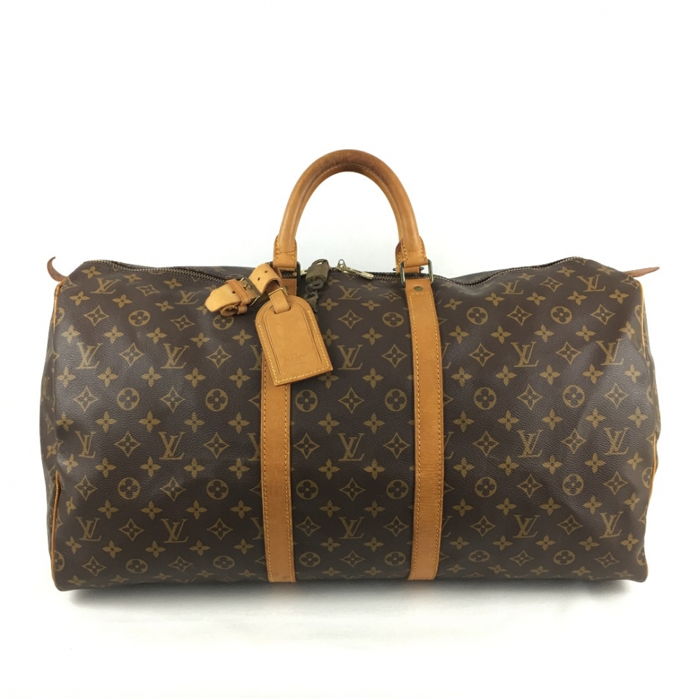 louis vuitton keepall 55 travel bag monogram myprivatedressing buy and sell vintage and. Black Bedroom Furniture Sets. Home Design Ideas
