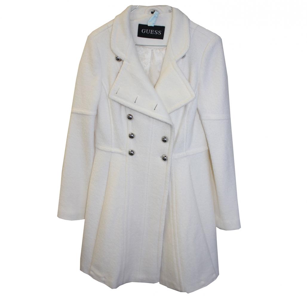 en soldes ce3ae 1a9e3 Guess - Long manteau blanc crème : MyPrivateDressing vide dressing suisse  luxe online. Achetez et vendez entre passionnés d'articles vintage, seconde  ...