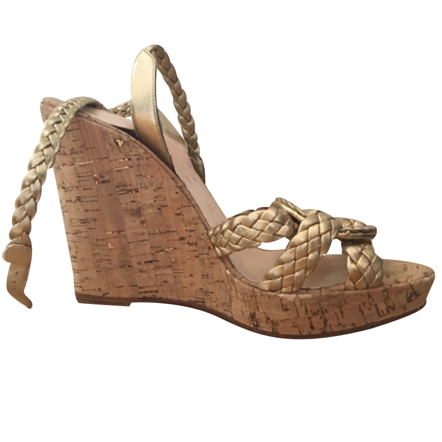 super cute a6208 482b2 Christian Louboutin - 'Cadena Tresse' Wedges : MyPrivateDressing. Buy and  sell vintage and second hand designer fashion and watches. Free listing. ...