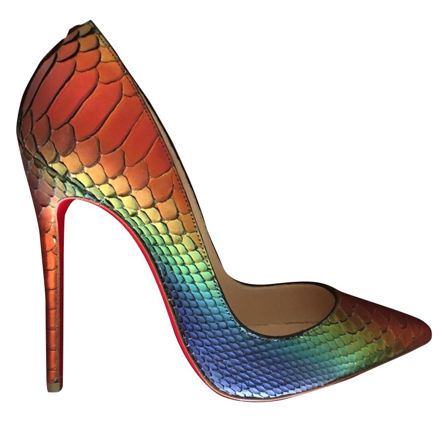 574b435ff8fa Christian Louboutin -  So Kate Python Rainbow Capucine  Pumps ...
