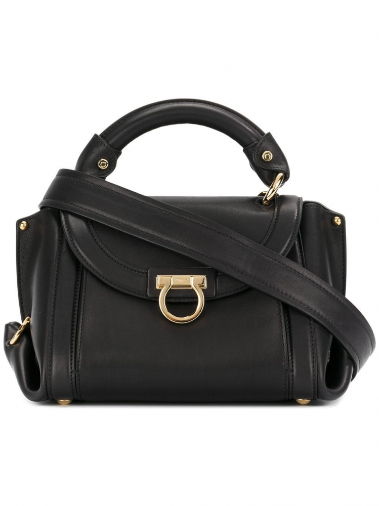 d7271dd9854 Salvatore Ferragamo - Small Leather Sofia Satchel ...