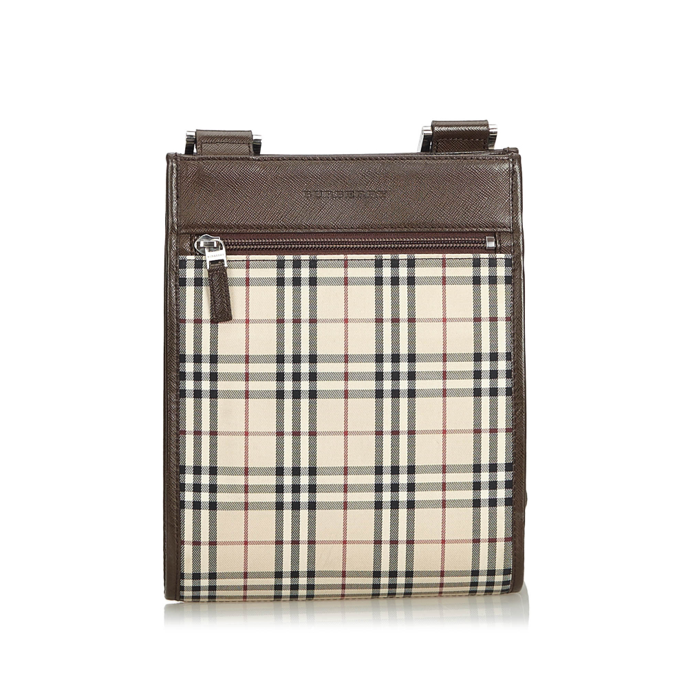 88253790805 Burberry - Plaid Coated Canvas Crossbody Bag : MyPrivateDressing ...