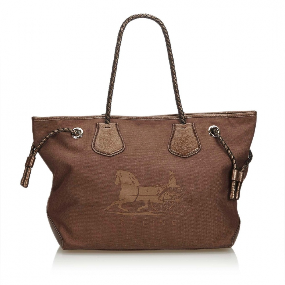 Céline - Canvas Tote Bag   MyPrivateDressing. Buy and sell vintage ... c76b0ae6785bb