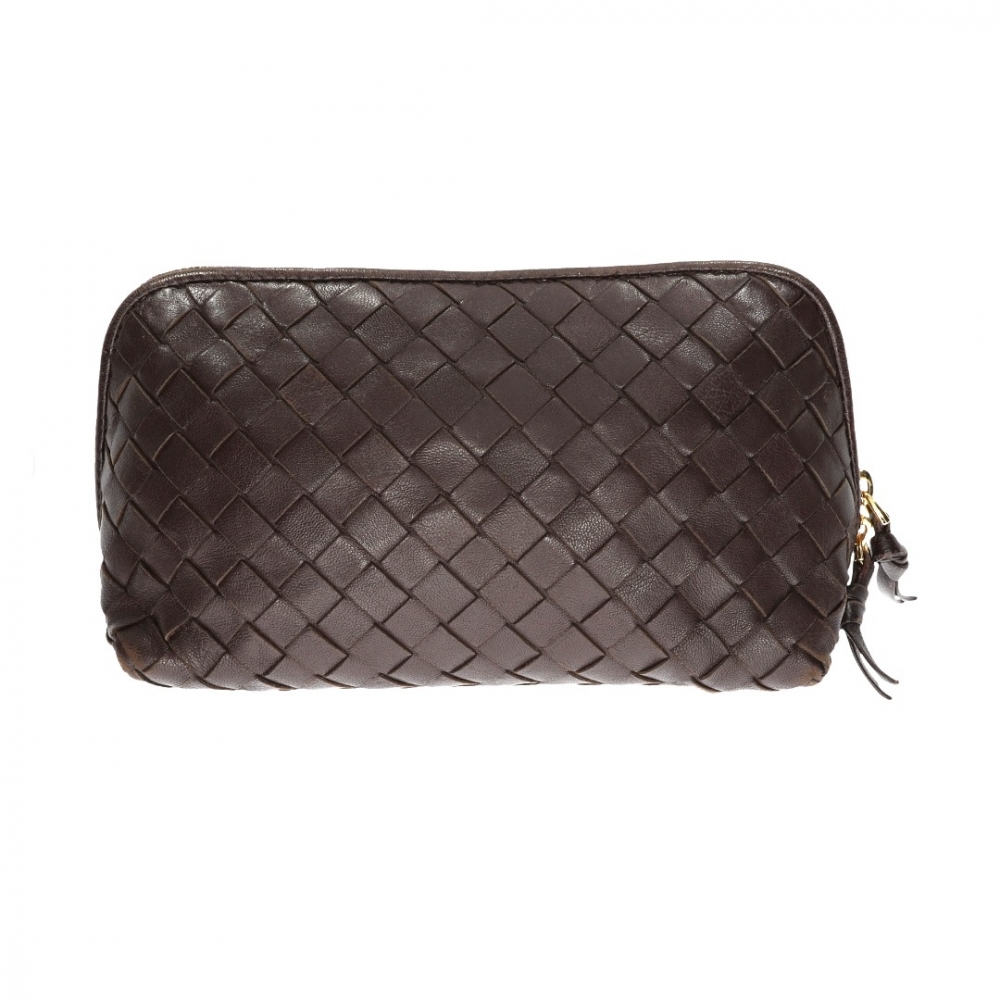 50e5dee8f1 Bottega Veneta - Dark Brown leather Beauty Case   MyPrivateDressing ...