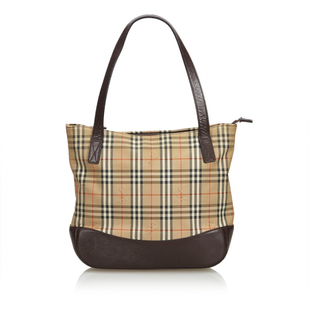 68c6ee27d3c Burberry - Plaid Canvas Tote Bag   MyPrivateDressing. Buy and sell ...