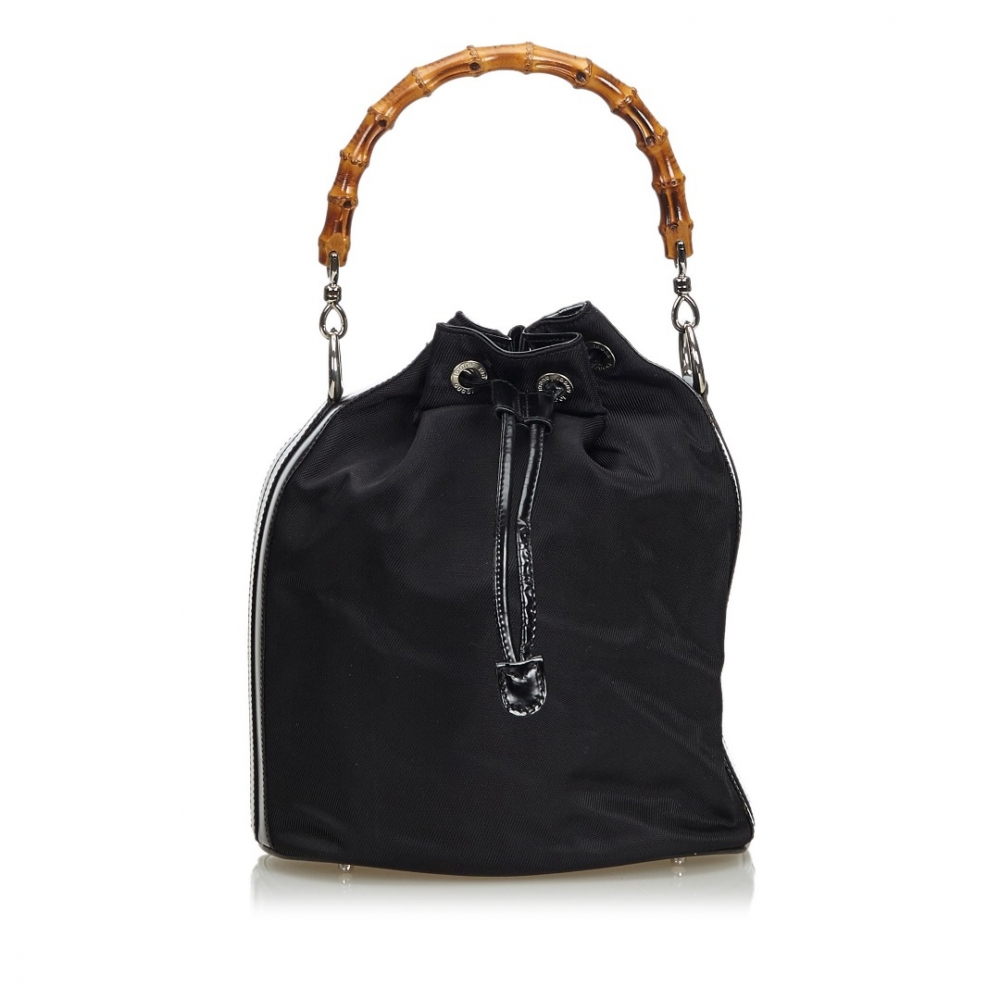 Gucci - Bamboo Nylon Bucket Bag   MyPrivateDressing. Buy and sell ... 5af1a946b2ed7