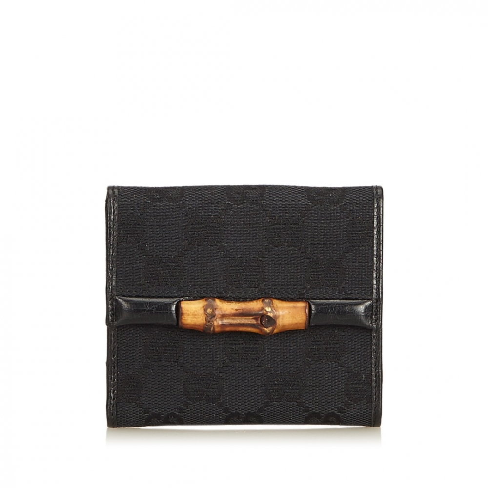 1876b2921dbc4 Gucci - ssima Bamboo Jacquard Small Wallet : MyPrivateDressing. Buy and  sell vintage and second hand designer fashion and watches. Free listing. ...