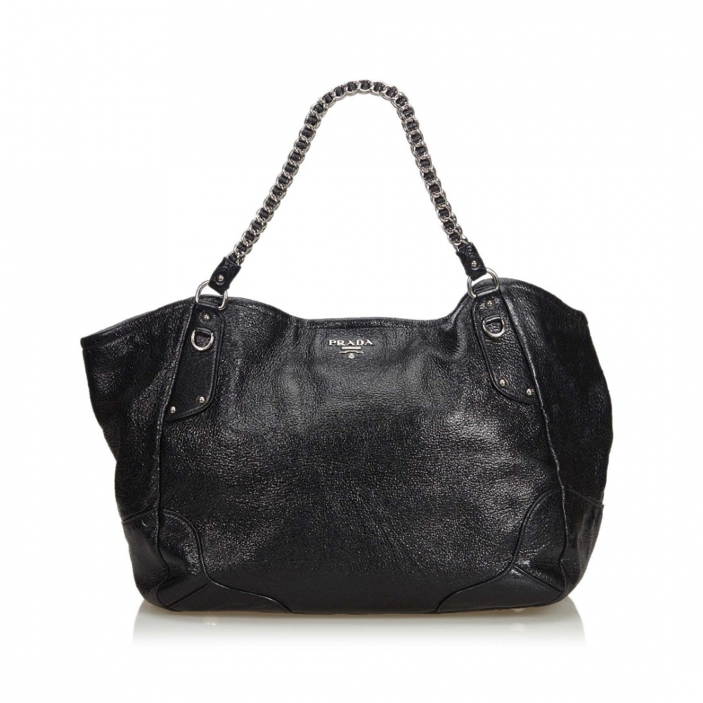 Prada - Leather Chain Tote Bag   MyPrivateDressing. Buy and sell ... bfa253a2cf9ef