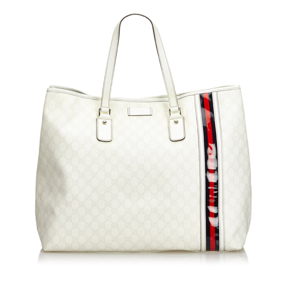 0a0c8927ef4 Gucci - GG Supreme Web Tote Bag   MyPrivateDressing. Buy and sell ...