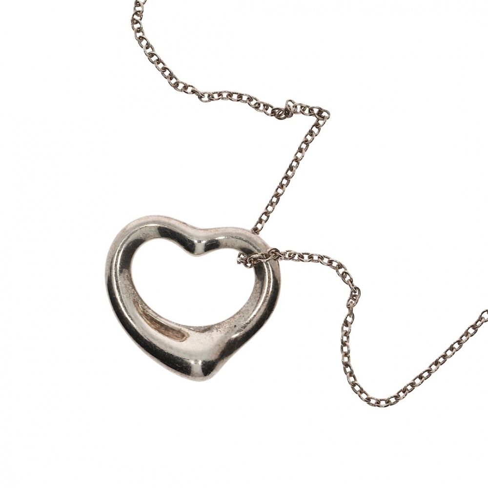 cf54df12b45c1 Tiffany & Co - Tiffany and Co. Necklace Open Heart Silver by Elsa Peretti :  MyPrivateDressing. Buy and sell vintage and second hand designer fashion ...