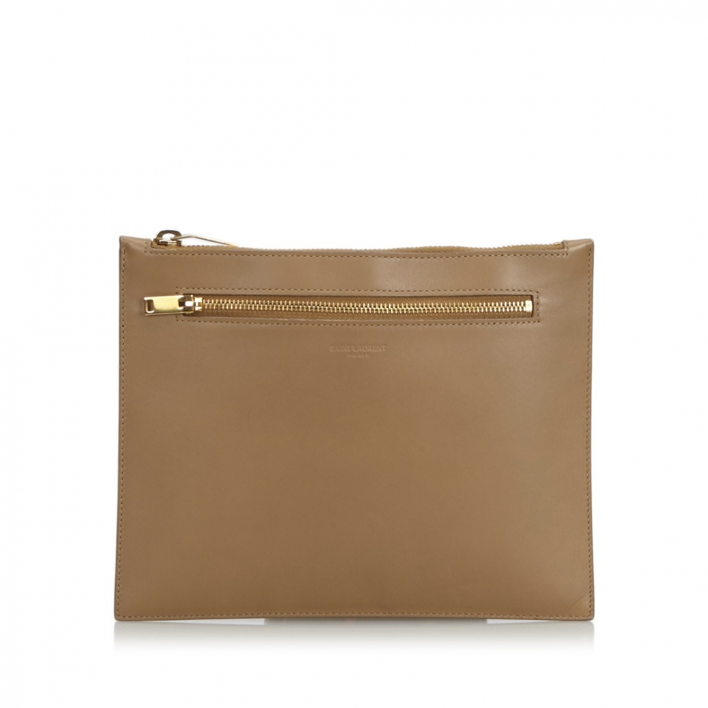 ca3d3961e44 Yves Saint Laurent - Leather Clutch Bag : MyPrivateDressing. Buy and ...