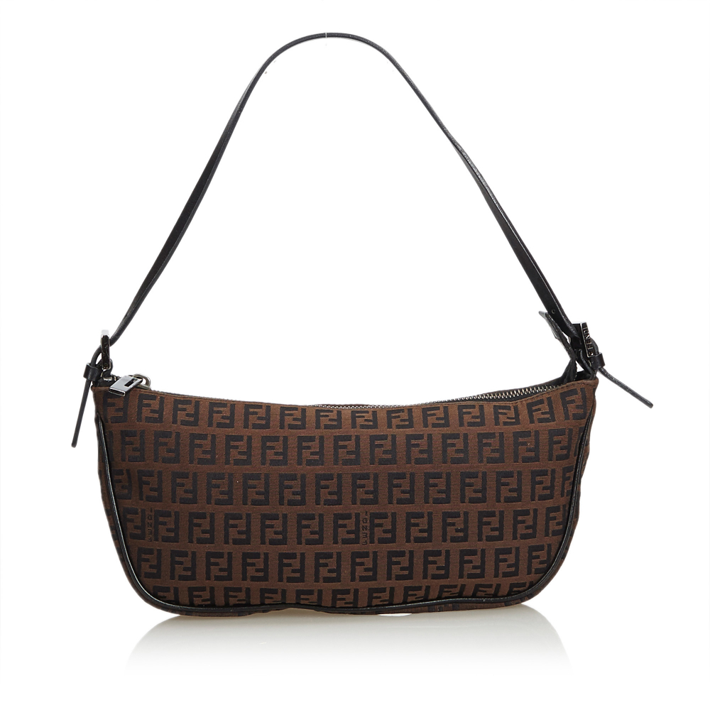 1710bea416dc Fendi - Zucchino Canvas Baguette   MyPrivateDressing. Buy and sell ...