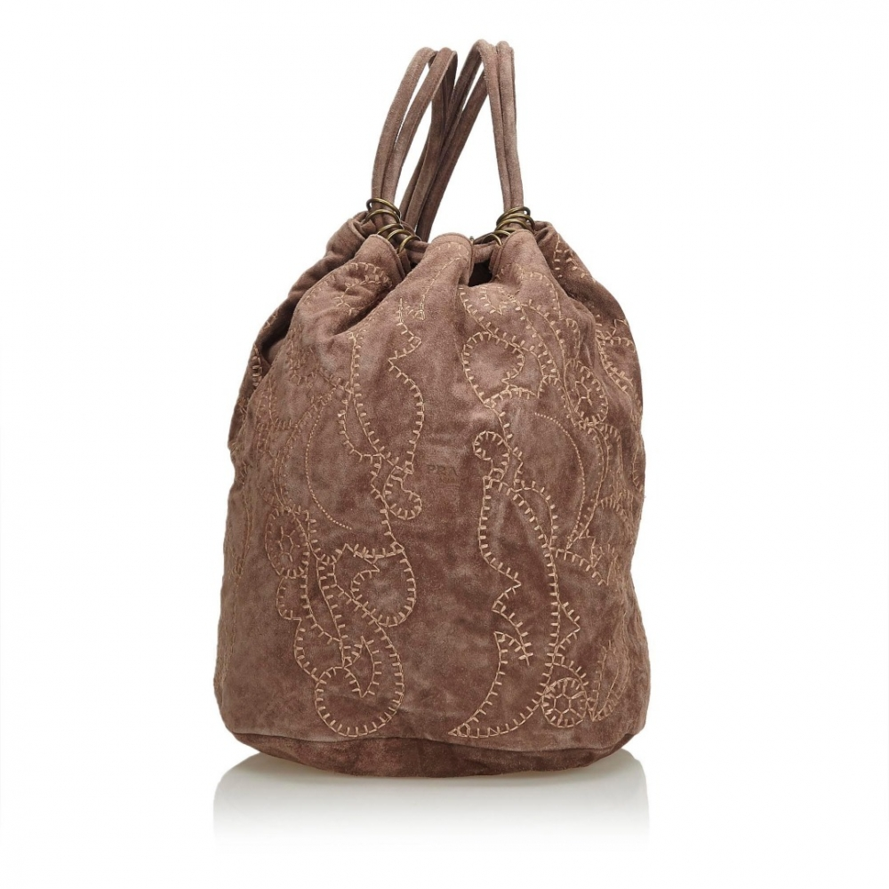349041f08c14e Prada - Suede Embroidered Backpack   MyPrivateDressing Schweiz ...
