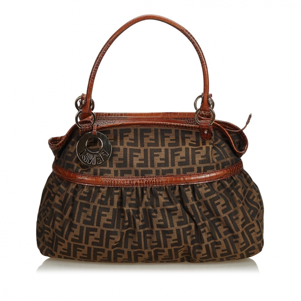 8adad2619a30 Fendi - Zucca Canvas Chef Handbag   MyPrivateDressing. Buy and sell ...