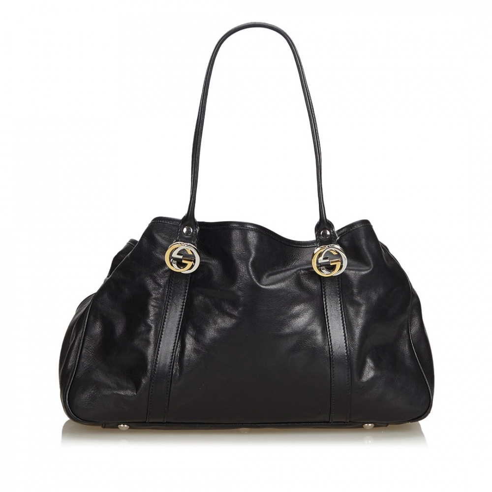 61ab584dc7f Gucci - Leather Twin Tote Bag   MyPrivateDressing. Buy and sell ...